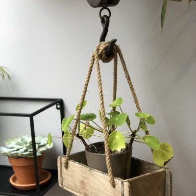 Oude zeepmal als plantenbak