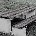 Picnic tafel douglas beton in zwart wit
