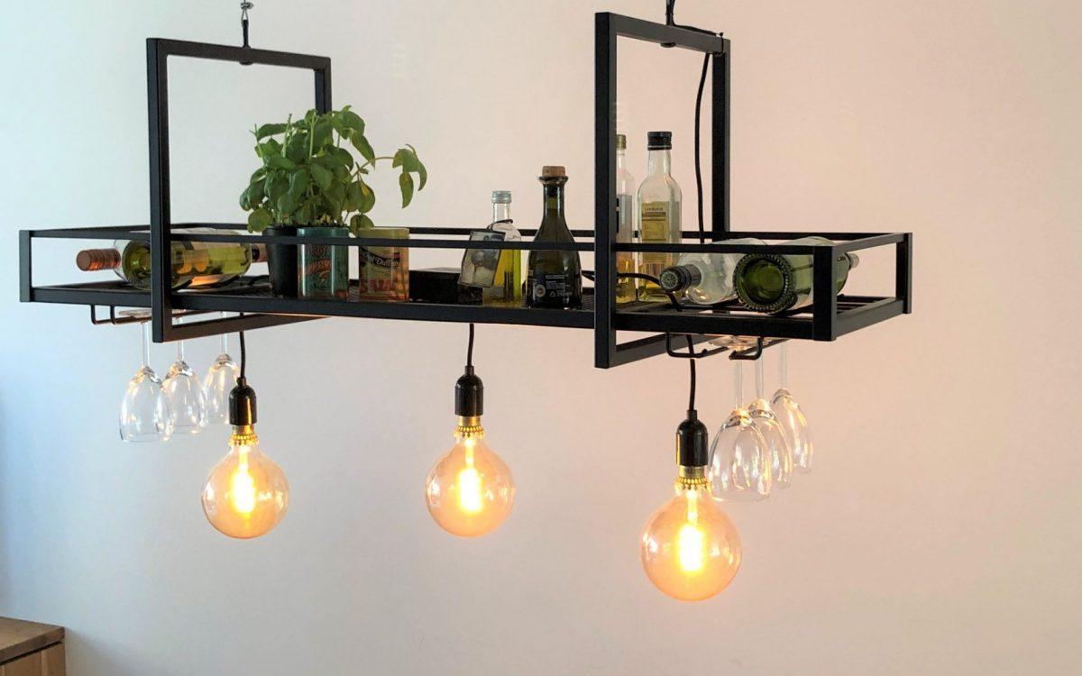 Industriële lamp laswerk op maat door Hout en Hamer