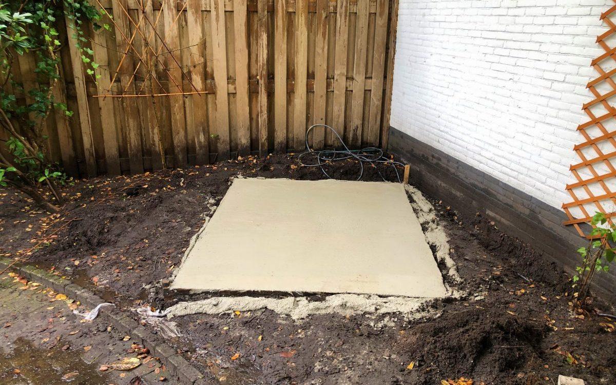 beton fundering sauna Bilthoven